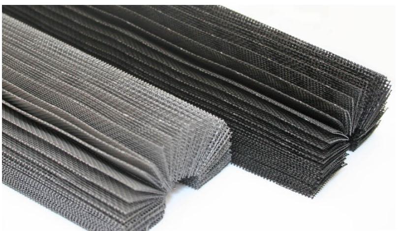 Rete pliss grigia e nera for Rete ombreggiante grigia