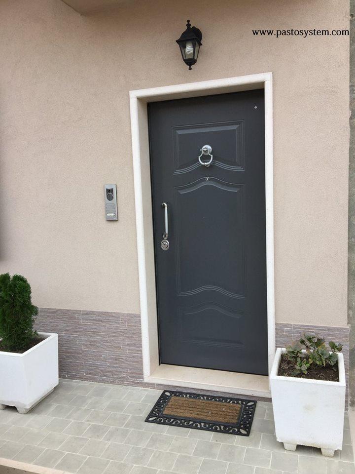 Porta blindata 1 anta occhionero - Porta blindata esterno ...