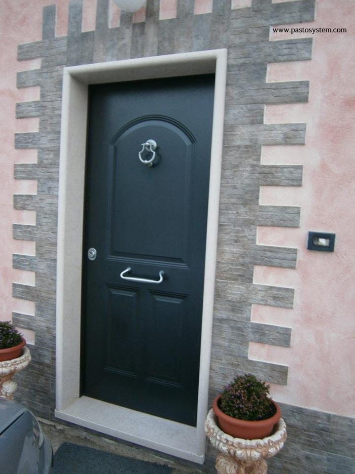 Porta blindata 1 anta con pannello in alluminio - Guarnizione porta blindata ...